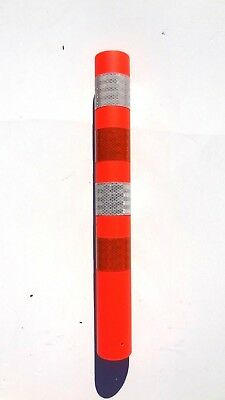 Pexco DP228 FLO 3 x 11.5 Traffic Round Reflective Post  Qty: 1 or 10 ea