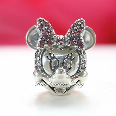 NIB Authentic Pandora Bead Shimmering Minnie Portrait Disney Clip 797496CZS