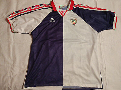 ATHLETIC BILBAO 1996 1997 KAPPA AWAY SHIRT JERSEY Camiseta futbol Spain La  liga 5375837bc59e9