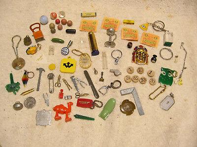 Vintage Cracker Jack Charms Toys Trinkets from a junk drawer