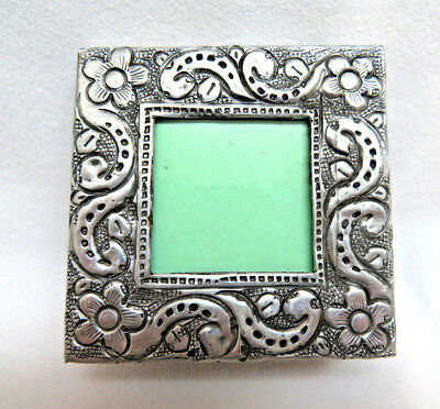 Small Stamped Tin Metal Picture Frame