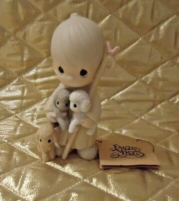 "Precious Moments figurine ""We Belong To The Lord""  Shepard Sheep Lambs"