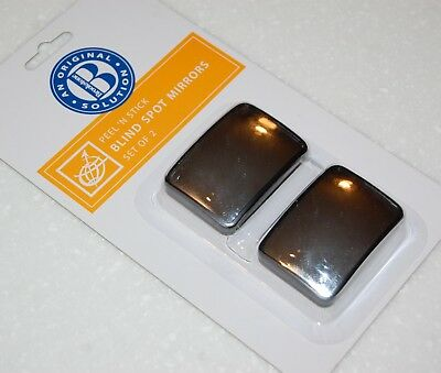 NEW Brookstone STICK-ON BLIND SPOT MIRRORS Pack of 2 Rear View Mirror Car Truck