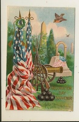 Decoration Day - Embossed - Souvenir - Civil War - M.W. Taggart - Ser. 604