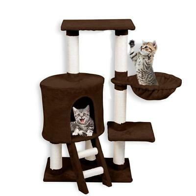 Cat Deluxe Tree Kitten Scratching Post Sisal Tree Gym House  Pole Furniture Toy