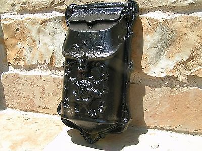 Cast Iron Reproduction mailbox suggestion box Black Victorian style