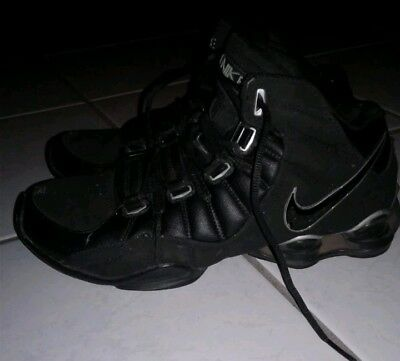2006 MEN S NIKE Shox Elite Flight Black   Silver Chrome Basketball Sneaker  US 8 ff7995331