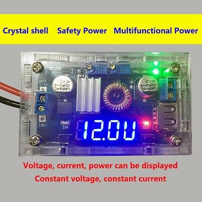5A LED Lithium charger Power Step-down Módulo USB Voltmeter+ Shell 1PC New SA
