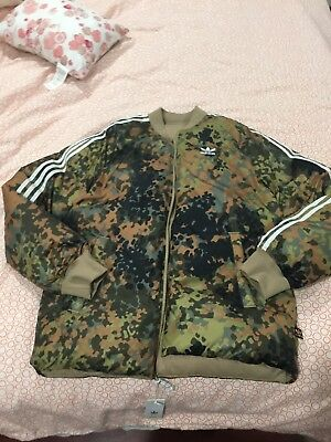 8144da8bf0c0 Adidas Men s Pharrell Williams Hu Hiking Camo SST Reversible Jacket M CY7867