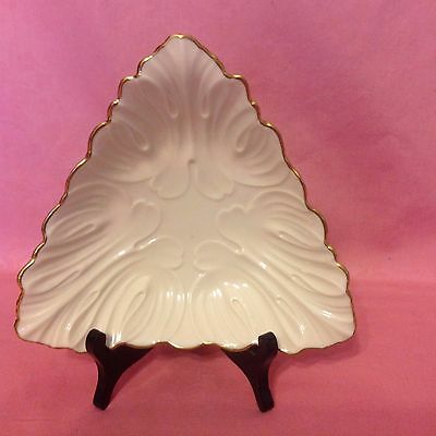 "Vintage! LENOX Fine China Triad Dish Bowl Cream Candy with 24K Gold Trim ~7""x 2"""