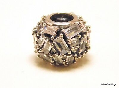 New/tags  Authentic Pandora Charm Chiselled Elegance Clear #797746Cz