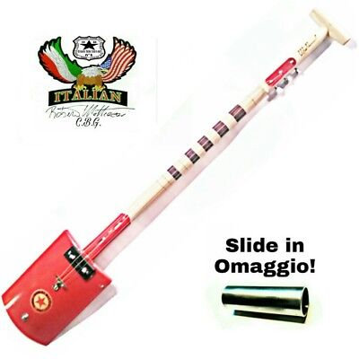 Original CIGAR BOX GUITAR SHOVEL by Robert Matteacci handmade Liutery Italy
