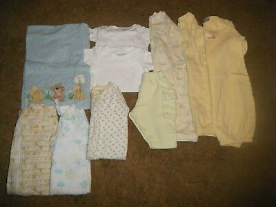 Unisex lot of baby clothes mixed styles an brands size 0-6 3 months