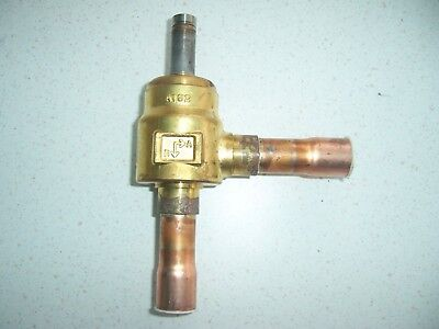 """3/4"""" refrigeration pipe solenoid valve air conditioning brazed connections N/C"""