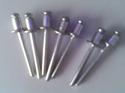 7 Rivets alu diamètres disponibles 2,4 - 3,2 - 4 - 4,8 mm