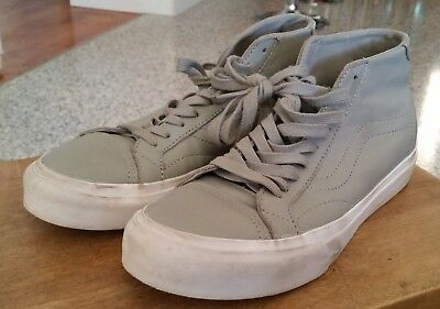Vans Ultracush grey leather high tops size 6 US M 7.5 US W 38 EU as new conditio