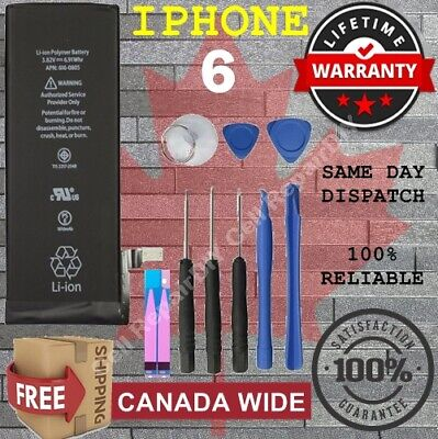 100% FULL Capacity Battery For iPhone 6 1810 mAh + Free Tools & Adhesive