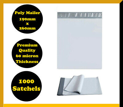 1000 Poly Mailer 190x260mm Courier Plastic Bag Self Sealing Mailing Satchel