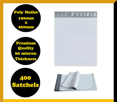 400 Poly Mailer 190x260mm Courier Plastic Bag Self Sealing Mailing Satchel
