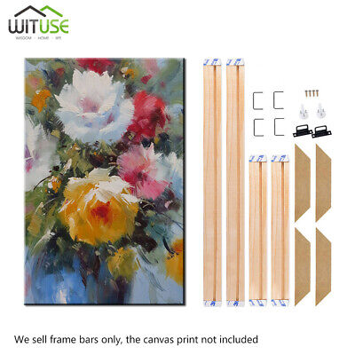 Wooden Canvas Stretcher Frames Bars Strips Kits For Art Paintings Multiple Sizes