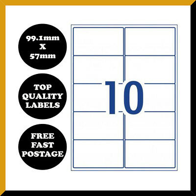 [10 Per Page]A4 Self Adhesive Address Labels Mailing Sticker Paper Sheet 10 UP