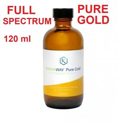 KANNAWAY PURE GOLD FULLSPECTRUM Hanf Öl 120ml Vollspektrum 1000mg CBD 10% Bio