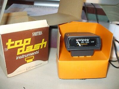 1970s NOS Smiths Top Dash car oil pressure gauge