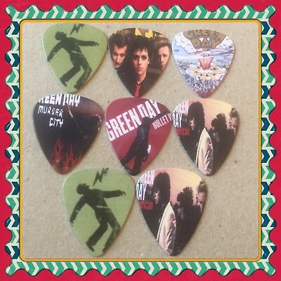 Lot Of 8 Double Sided 🎸Green Day 🎸  Guitar Picks Brand New #22