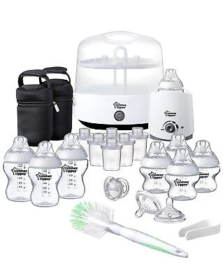 Tommee Tippee Closer to Nature Complete Feeding Set, White NEW!!