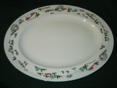 """Beautiful Lenox SLEIGHRIDE - Debut Collection 16"""" Oval Serving Platter"""