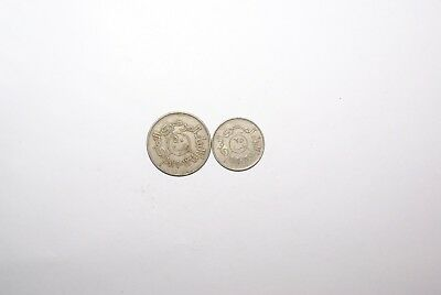 2 DIFFERENT COINS from the YEMEN ARAB REPUBLIC - 25 & 50 FILS (BOTH 1979)
