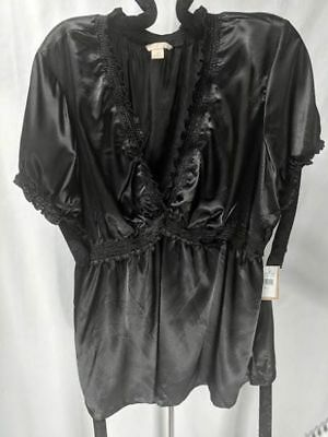 Dressy Satin Rouched & Ruffled Johnathan Martin Blouse NWT 3X Plus Sz Stunning