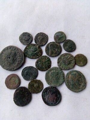 041.Lot of 17 Ancient Roman Bronze Coins,Very Interesting