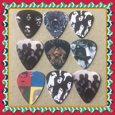 Lot Of 9 Double Sided Queen Guitar Picks Brand New #3