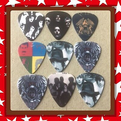Lot Of 9 Double Sided Queen Guitar Picks Brand New #4