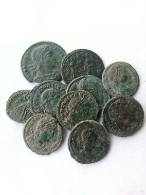 035.Lot of 10 Ancient Roman Bronze Coins,Very Fine