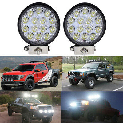 4'' 42W Led Flood Round Work Light Offroad Truck Car SUV ATV Driving Lamp Sp