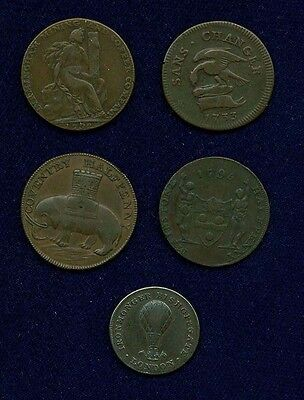 "G.b/uk./england  1733-1799+  ""coventry, Warwickshire,"" Etc. Half-Penny Tokens"