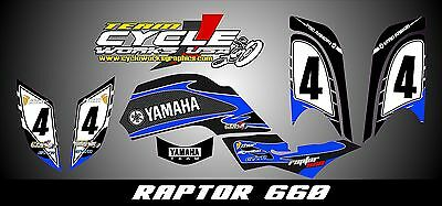 Yamaha Raptor 660  SEMI CUSTOM GRAPHICS KIT RAPPERBLU