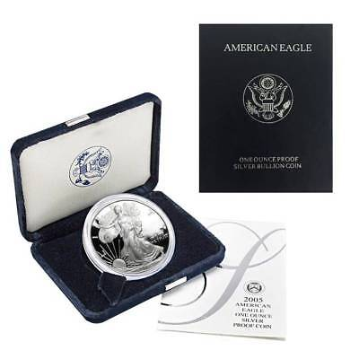 2005-W American Silver Eagle Proof (OGP & Papers)