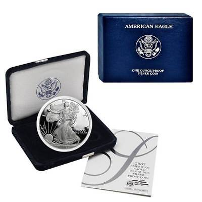 2007-W American Silver Eagle Proof (OGP & Papers)