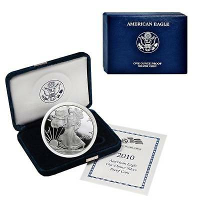 2010-W American Silver Eagle Proof (OGP & Papers)