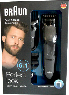 Braun Mgk 3020 6 in 1 Coiffure Multi-Grooming Kit Tondeuse à Cheveux Neuf et