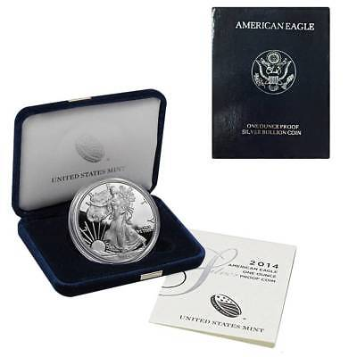 2014-W American Silver Eagle Proof (OGP & Papers)