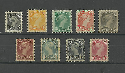 Canada 1870 Very Early Mint And Lmm Victoria Rare Stamps Great Colour High Cat