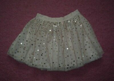 """Girls """"Next: Champagne Pink Netted Party Skirt Lots of Sequins for Age 5 years"""