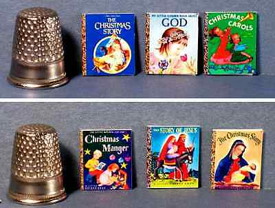 Dollhouse Miniature 1:12   6 Little Golden Books  Traditional Christmas Covers