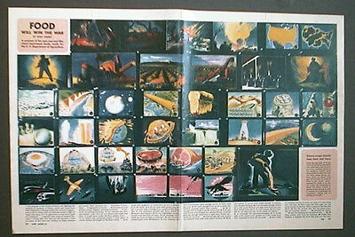 Walt Disney WWII Illustrated Article on Food Will Win the War