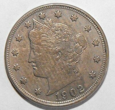 1902 Liberty Head Nickel, Circulated and ungraded