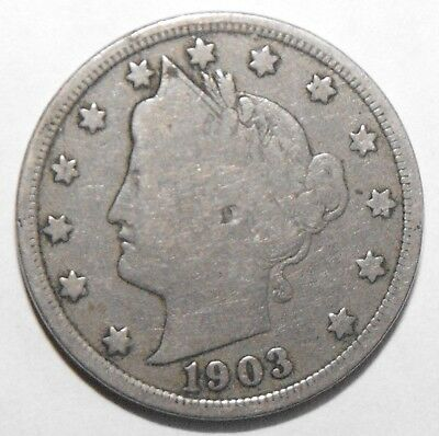 1903 Liberty Head Nickel, Circulated and ungraded